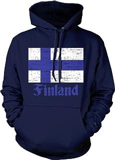 Flag of Finland, Finn Flag Suomi Pride Hooded Sweatshirt, NOFO Clothing Co.