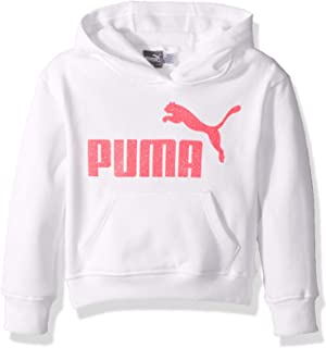 PUMA girls Fleece No. 1 Logo Pullover Hoodie Hooded Sweatshirt