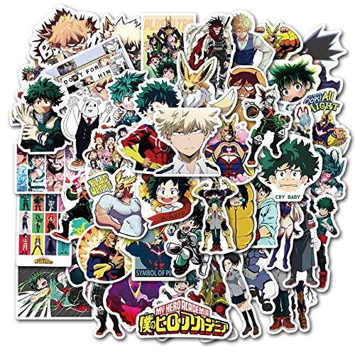 PMSMT 50 Piezas my Hero Academia Anime Pegatinas midoriya izuku bakugou Katsuki para DIY Equipaje portátil ps4 Casco Coche Juguete Regalo Pegatina