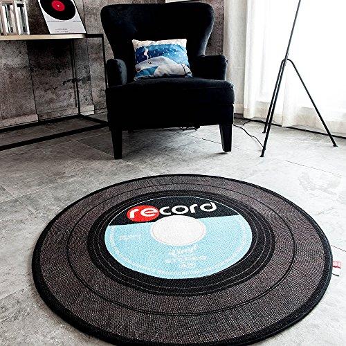 Retro Music Record Area Rug