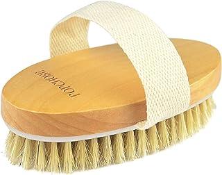 Dry Brushing Body Brush, POPCHOSE Natural Bristle Dry Skin Exfoliating Brush Body Scrub for Flawless Skin, Cellulite Treat...
