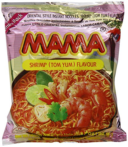 Mama Instant Noodle, Tom Yum Shrimp Spicy Flavor, 3.17 Ounce (Pack of 20)