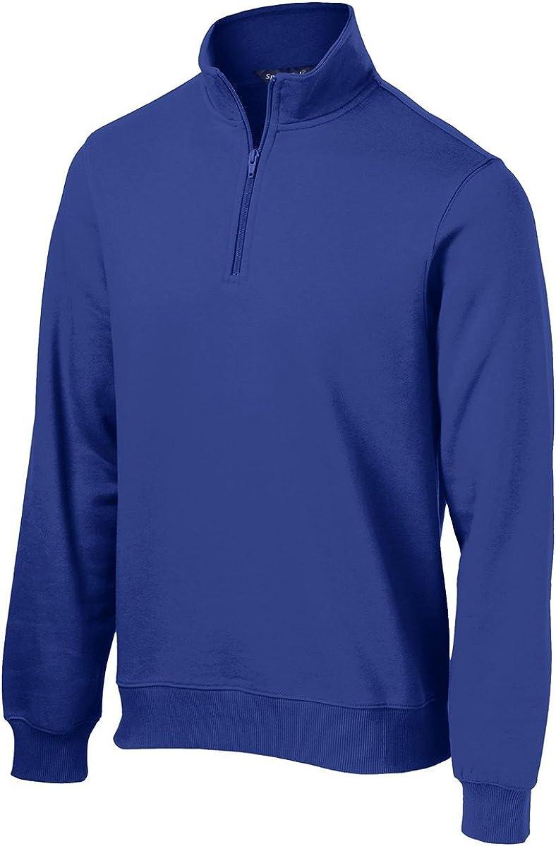 Sport-Tek Men's Big And Tall 1/4-Zip Waistband Sports Sweatshirt,4X Tall,True Royal