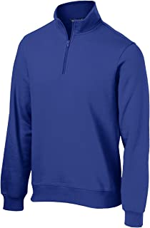Sport-Tek 1/4-Zip Sweatshirt>L True Royal ST253