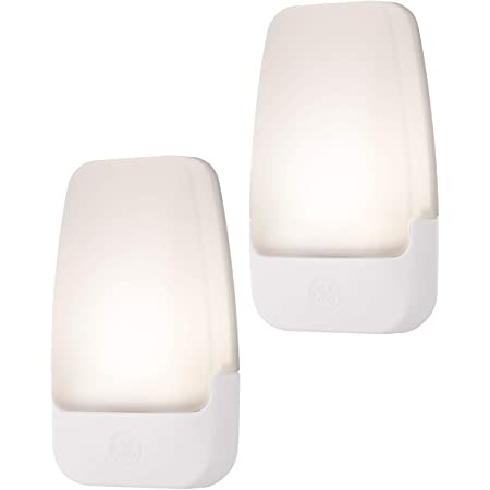GE, 3000K, Home Office, LED Night Light, Plug-in, Dusk to Dawn Sensor, Warm White, UL-Certified, Energy Efficient, Ideal for Bedroom, Bathroom, Nursery, Hallway, Kitchen, 30966, 2 pack, 2 Count
