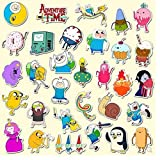 Cartoon Anime Sticker Adventure Time with Finn and Jake Cute PVC Waterproof Toy Sticker 50pcs