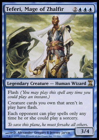 Magic The Gathering - Teferi, Mage of Zhalfir - Time Spiral