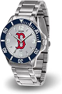 Boston Red Sox MLB Key Watch with Stainless Steel Band