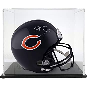 Mini Helmet Crystal Case Protech Mirror Back Black Base Collectible Lot of 2