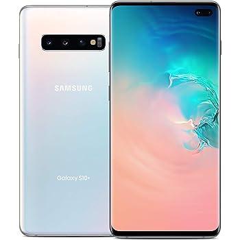 Samsung Galaxy S10+, 128GB, Prism White - Fully Unlocked (Renewed)