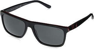 Ralph Lauren - POLO 0PH4153 Gafas de sol, Black/Red/Black, 58 para Hombre