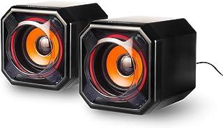 PC スピーカー WESDAR パソコンスピーカー 高音質 大音量 コンパクト ゲーミングスピーカー USB給電式 3.5mm入力 パソコン・テレビ・ゲーム機などに対応 国内正規品 2年間メーカー保証