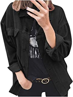 ZDJH Jas dames corduroy jas vintage effen gebreid vest herfst winter corduroy cardigan casual tiener meisjes windbreaker v...