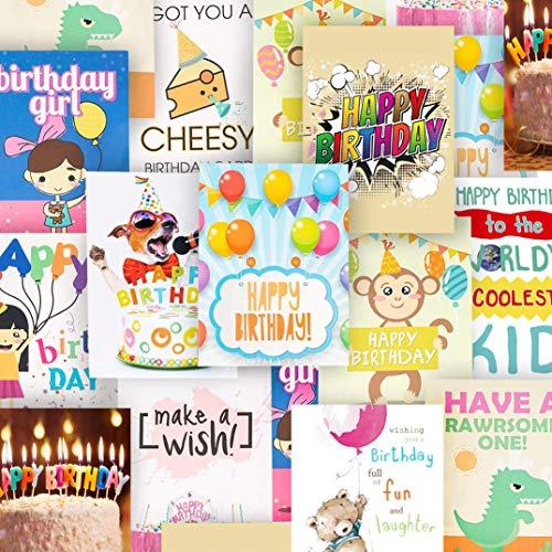 20er Set Geburtstagskarten mit Umschlägen - Englisch