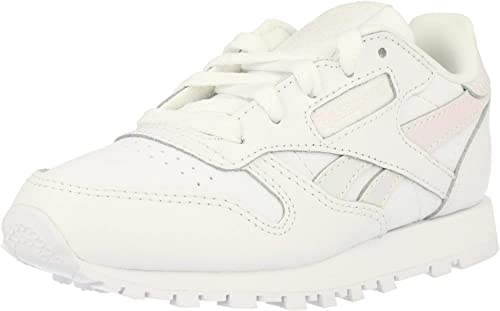 Reebok Classic Leather blanc Iridescent Leather Junior Trainers
