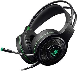 Headset Gamer Evolut Temis Preto e Verde USB e P2 Com Microfone e Iluminação - EG-301GR