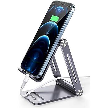UGREEN Soporte Móvil, Universal Multiángulo Soporte Ajustable, Soporte Plegable de Aluminio para Teléfono e Smartphones, Compatible con Xiaomi Redmi Note 8, A2, Mi 9, iPhone XR, XS, 8, Samsung S10 S9
