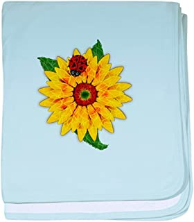 CafePress - Mosaic Sunflower with Lady Bug - Baby Blanket, Super Soft Newborn Swaddle