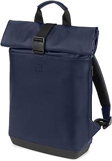 Mochila Clásica Enrollable Multiusos para Ordenador Portátil, Tablet, Notebook, iPad de hasta 15'', Tamaño 40 x 32 x 12 cm, Azul Zafiro