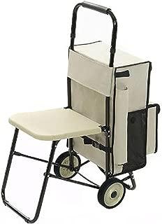Carrito de la compra Multifuncional – Exclusivo Carrito de compra con asiento integrado plegable – rest' N Roll