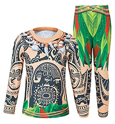 AmzBarley Moana Maui Costume Cosplay for Little Boy Pajamas Kids Toddler Sleepwear