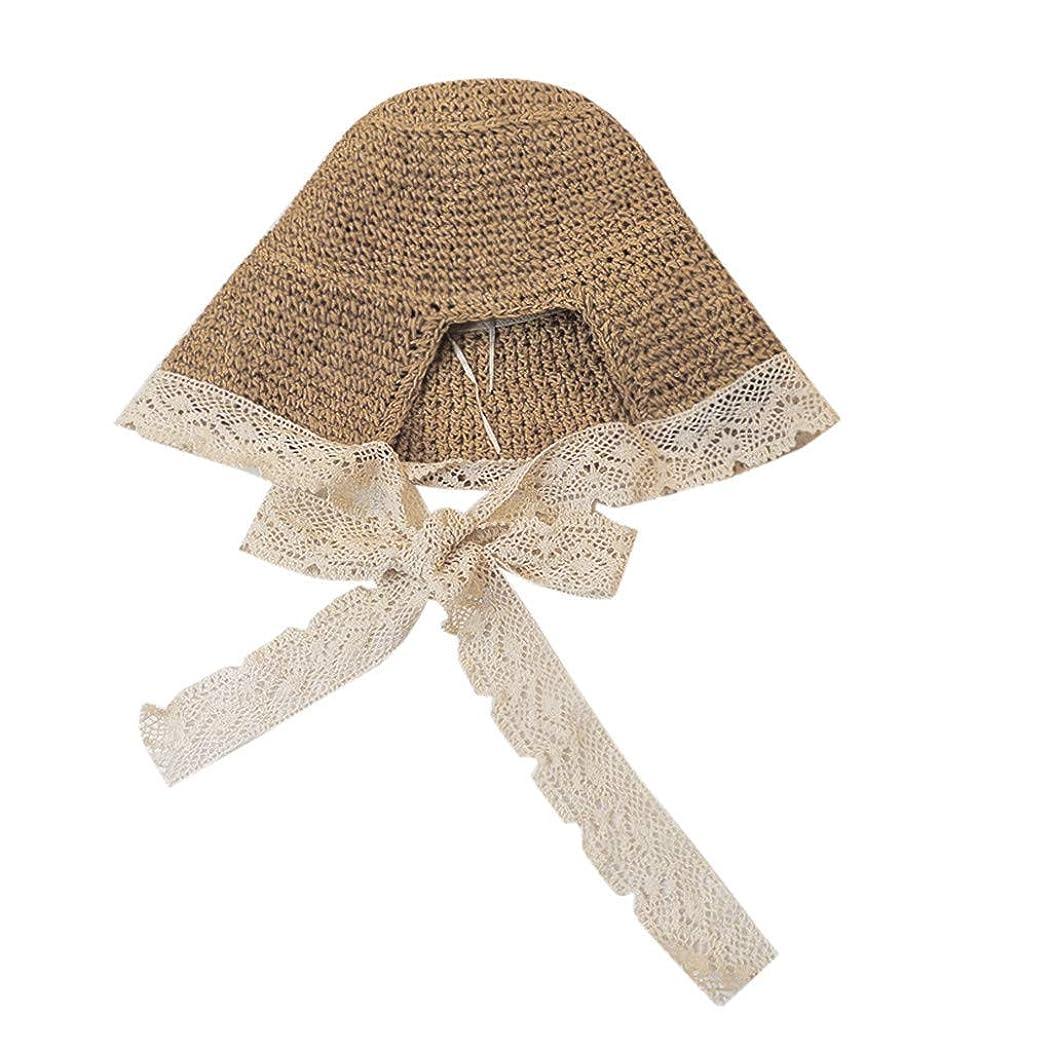 織るつかむふりをするROSE ROMAN - 漁師の帽子 UVカット 帽子 レディース 日よけ ハット つば広 ハット日よけ 折りたたみ 夏季 UV対策 おしゃれ 可愛い ハット ニット帽 キャップ レディース 女優帽 天然草木 手作り 蝶結び
