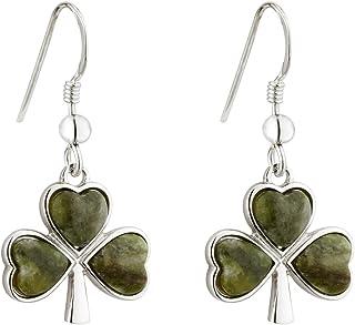 Solvar Rhodium Plated Sterling Silver Enamel Crystal Shamrock Heart Bead