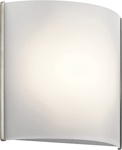 """popular Kichler 10797NILED 8.25"""" White Acrylic lowest LED Wall Sconce in Brushed popular Nickel online sale"""