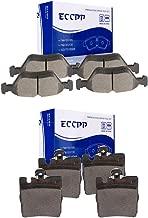 ECCPP Brake Pads, 8pcs Front Rear Ceramic Disc Brake Pads Kits fit for 2000-2003 Mercedes-Benz CLK320,2001-2003 Mercedes-Benz CLK430,1996-2002 Mercedes-Benz E320,1998-2002 Mercedes-Benz E430