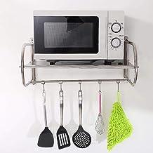 JYCZJZ - Rejilla de Cocina de Acero Inoxidable/Horno de microondas para Colgar en la Pared/Estantes/Accesorios de Cocina (Tamaño: 55 * 40 * 28CM)