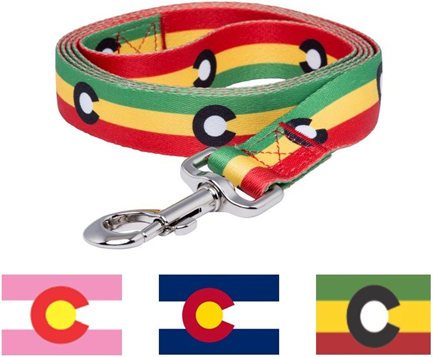 Native Pup colorado Flag Dog Leash (Rasta)