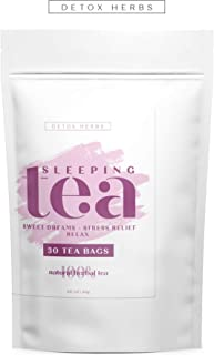 SLEEPING TEA - 30 Tea Bags, Tea for Sweet Dreams, Stress Relief and Relax, Calm Your Nerves & Enjoy Healthy Deep Sleep, 100% Natural Tea for Adults and Kids, Melissa, Chamomile