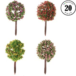 Fairy Garden Accessories, 20Pcs Miniature Fairy Garden Tree Plant Decoration Toy House Micro Landscape Landscape Architecture DIY Craft Garden Tree Decoration 4 Different Tree Models