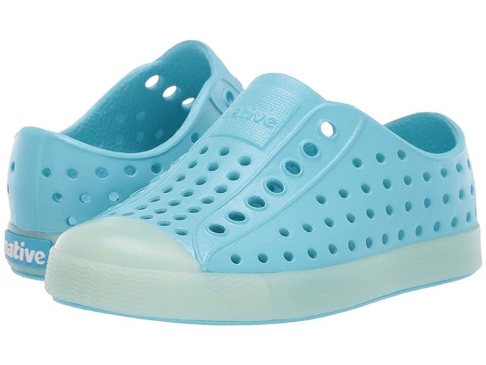 Native Kids Shoes Jefferson Glow (Toddler/Little Kid) (Hamachi Blue/Glow) Kid