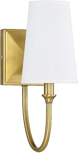 "wholesale Savoy House 9-2542-1-322 popular Cameron online Warm Brass 1 Light Sconce (5"" W x 13""H) online sale"