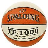 Spalding Tf1000 Legacy Sz.7 (74-542Z) Balón de Baloncesto, Naranja / Blanco, 7