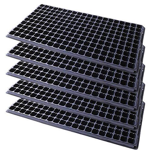 10 piezas de 200 celdas jardín cubierta transpirable maceta de vivero mini caja de siembra bandeja de crecimiento de semillas florales de plástico