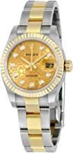 Rolex Lady Datejust 26 Automatic Champagne Dial Stainless Steel and 18kt Yellow Gold Rolex Oyster Watch 179173CJDO