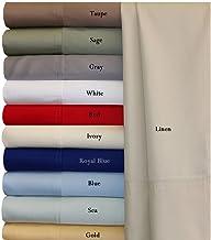 أغطية وسائد سرير رويال هوتل بمقاس قياسي كتان بيج حريري ناعم 100% خيزران فيسكوز 2 كيس وسادة
