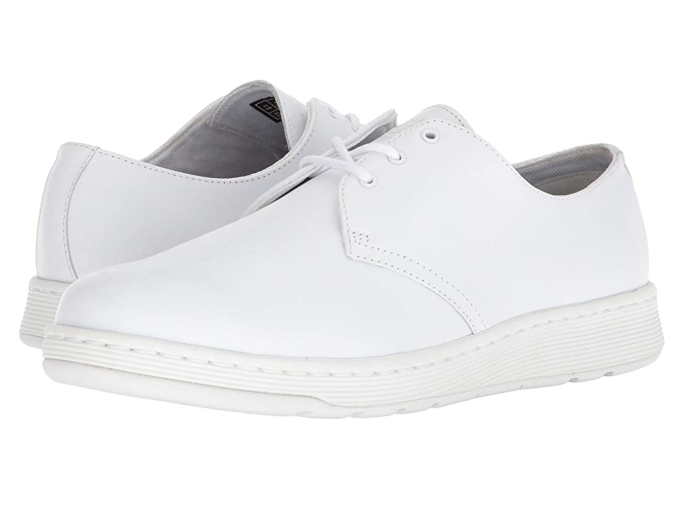 Dr. Martens Cavendish 3-Eye Shoe (White Venice) Lace up casual Shoes