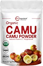 Peruvian Camu Camu Powder Organic, (Natural Vitamin C Supplement Powder), 8 Ounce, Strongly Supports Energy and Immune Sys...