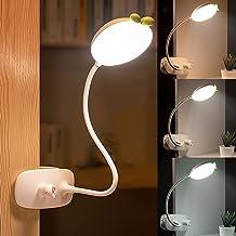 HHKQ Lampka LED do czytania książek, łóżka, lampka biurkowa dla dzieci, z czujnikiem dotykowym, 3 poziomy jasności, 3 temp...