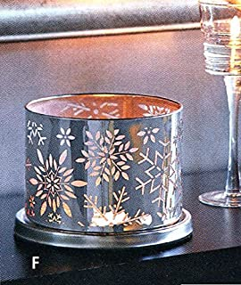 PartyLite Christmas - Holiday Enchanted Winter Snow Votive Candle Holder Decoration