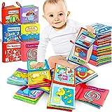 RenFox Libros Blandos para Bebé, Libro de Tela Bebe No Tóxicos Libro Activity Bebé Anti-Tear Aprendizaje y Educativo Temprana Libro de Cognición Juguetes Niños Recién Nacido (6 Piezas)