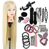 """Teste studio, Neverland Beauty 30""""100% fibra sintetica testa di formazione dei capelli pratica di parrucchiere manichino bambola manichino con morsetto + styling dei capelli accessori treccia set"""