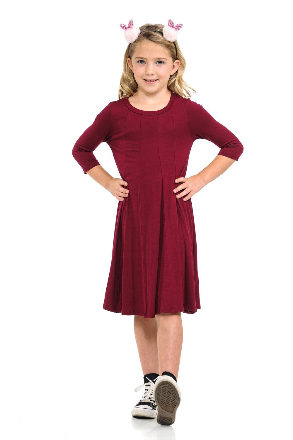 Pastel by Vivienne Honey Vanilla Girls A-Line Trapeze Dress with Easy Removable Label