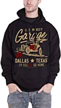 Gas Monkey Garage Hoodie Go Big Or Go Home Logo Official Mens Black Pullover