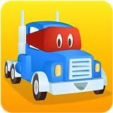 スーパートラックのカールが道路工事:掘って、岩を削って、建てよう