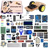 Version 3.0 Quad Store - Ultimate Uno R3 kit compatible with Arduino IDE Note: Kit includes Quaduino Uno R3 which is a high quality compatible Uno R3 board. Kindly check listing picture for details. User guide and Source code to be downloaded using t...