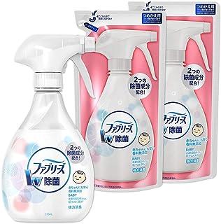 【まとめ買い】ファブリーズ 除菌消臭スプレー 布用 香料無添加 本体 370mL+詰め替え 320mL×2個